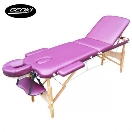 $114.97,Save $54.98 - Purple - This massage table also features a removable and adjustable face cradle with a face hole, face hole plug, front arm support as well as side arm rests. Safe to use with safety lock support mechanism.