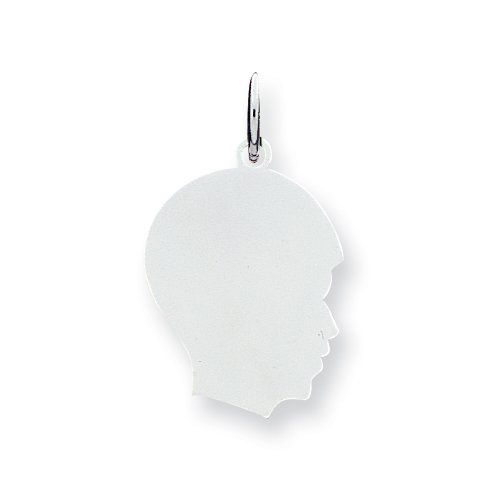 Sterling Silver Engraveable Boy Disc Charm Real Goldia Designer Perfect Jewelry Gift goldia. $16.92