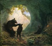 Bear and Cubs  by William Holbrook Beard
