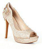 Gianni Bini Merri Glitter Jeweled Peep-Toe Pumps