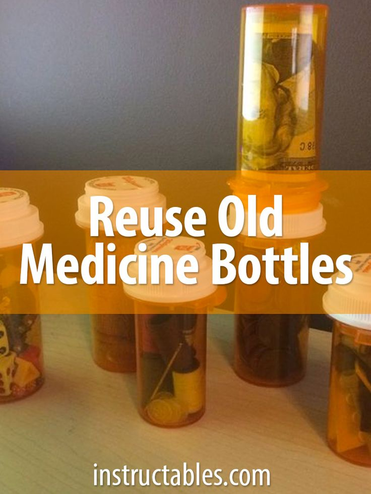 7 ways to reuse an old prescription pill bottle. Get organized!