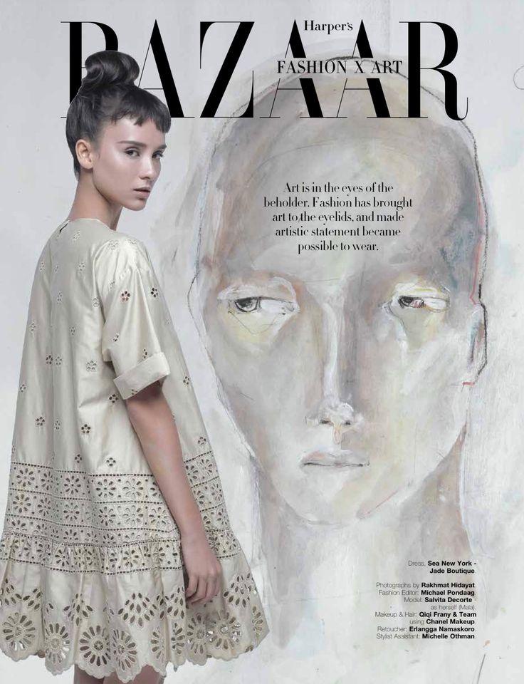as Head of Stylist Assistant - Harper's Bazaar Art Opening 2017