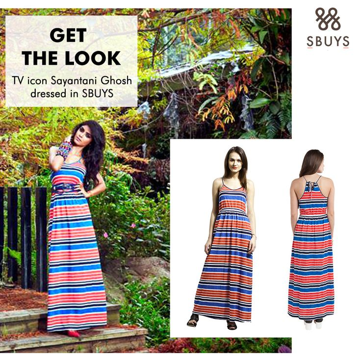 Get the easy breezy look like Sayantani Ghosh wearing sbuys  stripe cotton maxi dress. Show us how you wear  our sbuys and we would love to share.  www.sbuys.in #cotton #sbuysmaxidress #maxidress #celeblookalike #womenwear #fashionableclothing