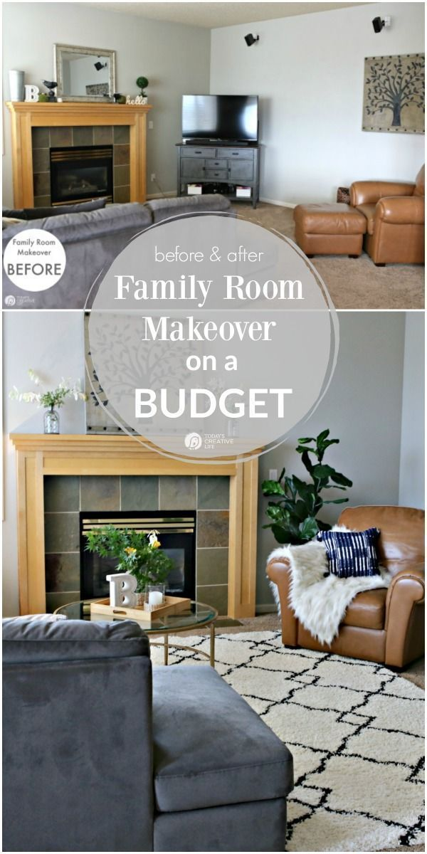 Family Room Ideas On A Budget Before And After Living Room Decorating Ideas Room Makeover Decor Redecorating Your Home On A Budget How To Decorate Ideias