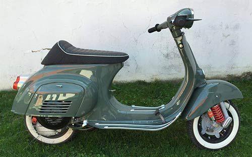 Vespa Primavera 125 Lackierung RAL 7009 Grüngrau/.Classic Car Art&Design @classic_car_art #ClassicCarArtDesign