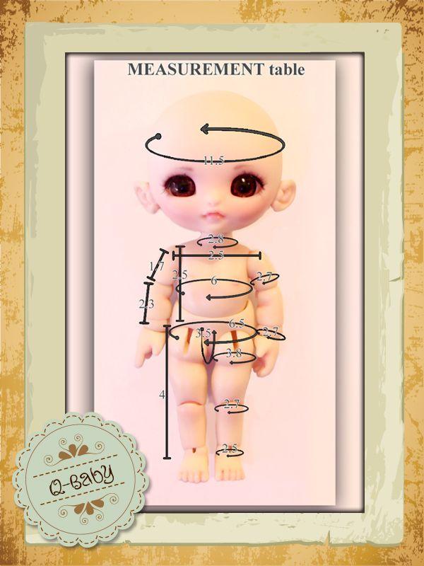 bjd measurements | DHS 10cm Tiny BJD - Q-Baby [DHS-Qbaby] - $120.00 USD : Luxour Academy ...