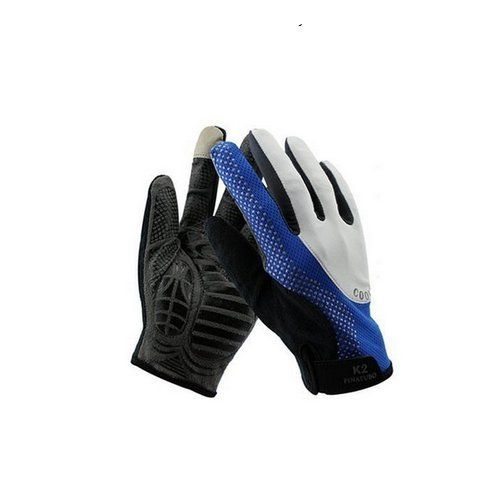 AUCH 1Pair NewDurable MenWomen High Quality NylonSilicone Material Chroma Full Sun Gloves for Summer CyclingCamping Outdoor UV ProtectionMediumBlue >>> Click image to review more details.