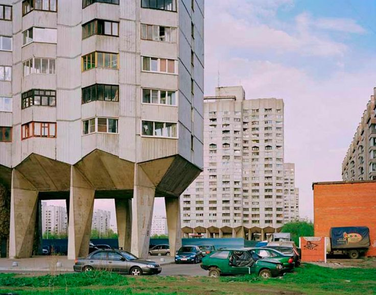 Russie, Leningrad, Complexe de logements sociaux.