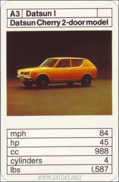 Top Trumps: Japanese Cars