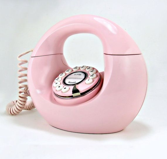 Retro Donut Phone in Cotton Candy Pink by OliveandFrances on Etsy, $110.00
