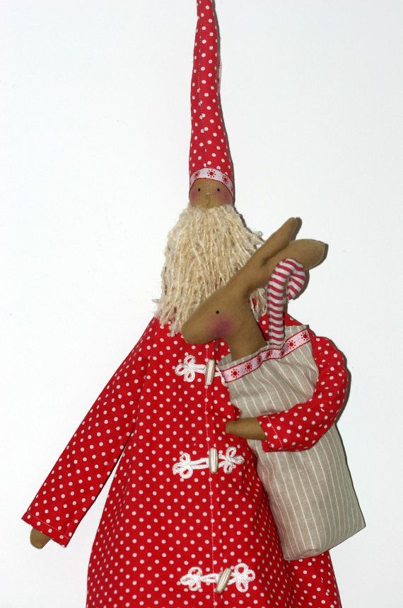 Santa Claus Tilda by ShabbyParis on Etsy