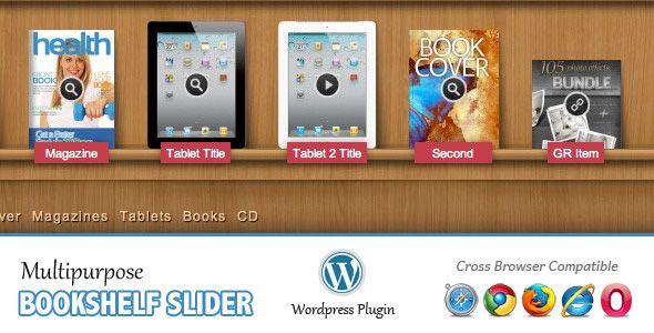 Multipurpose Bookshelf Slider - Wordpress Plugin - CodeCanyon Item for Sale