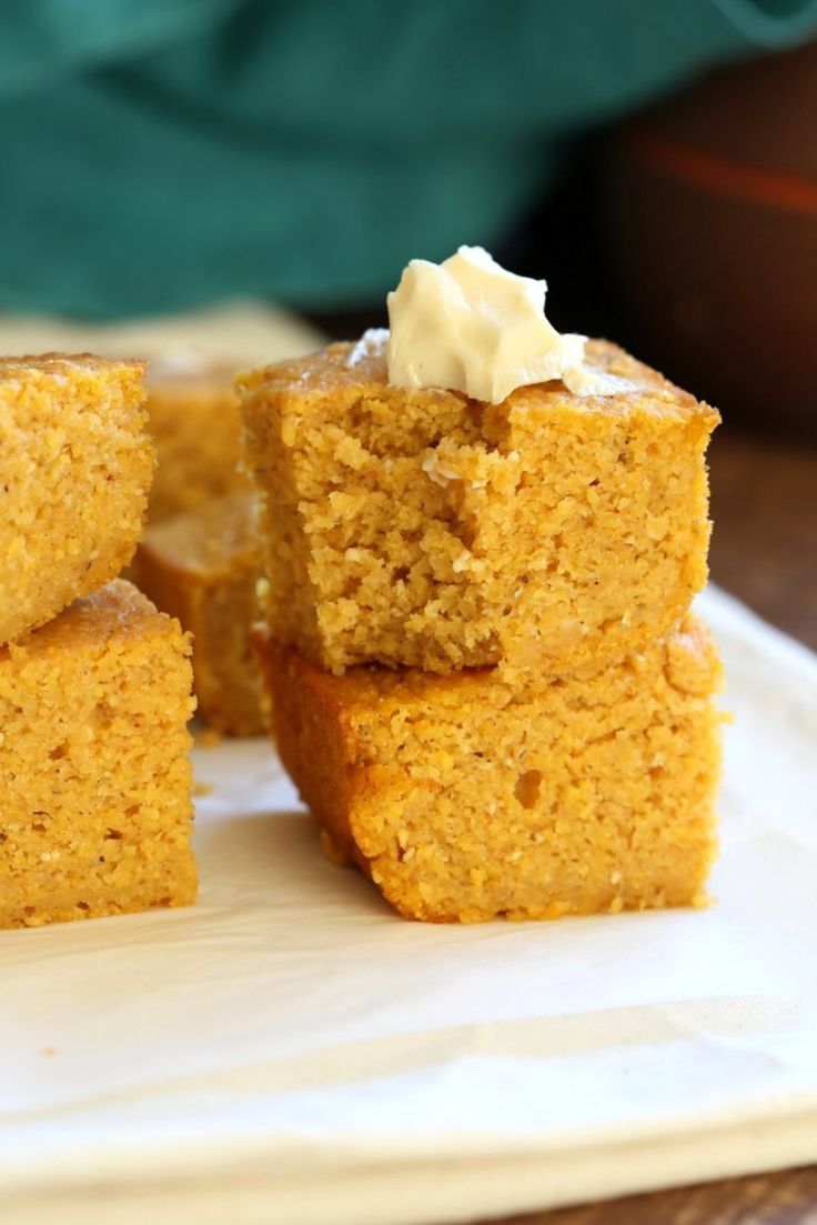 1 Bowl Vegan Pumpkin Corn bread. Spiced, lightly sweet and great with soups, chilis or on its own with vegan butter and maple syrup or make sandwiches with it.