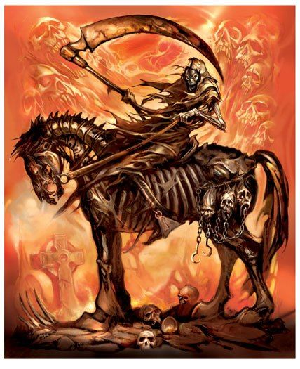 death and skeletal horse