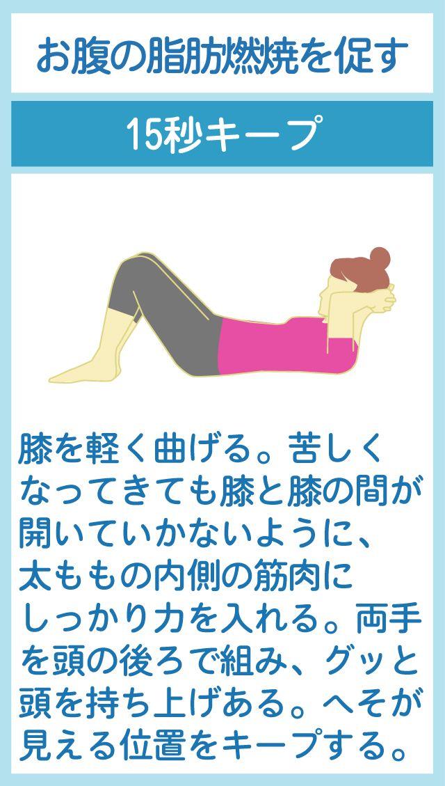 お腹の脂肪燃焼を促進