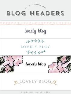 The 25 best header design ideas on pinterest graphic design free blog header designs designs by miss mandee give your website a fresh new pronofoot35fo Images