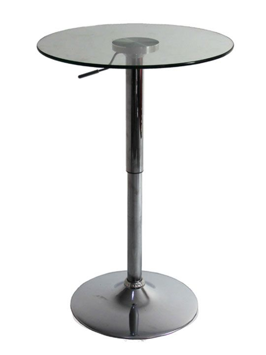 Pump Glass Bar Table | Modern Furniture • Brickell Collection