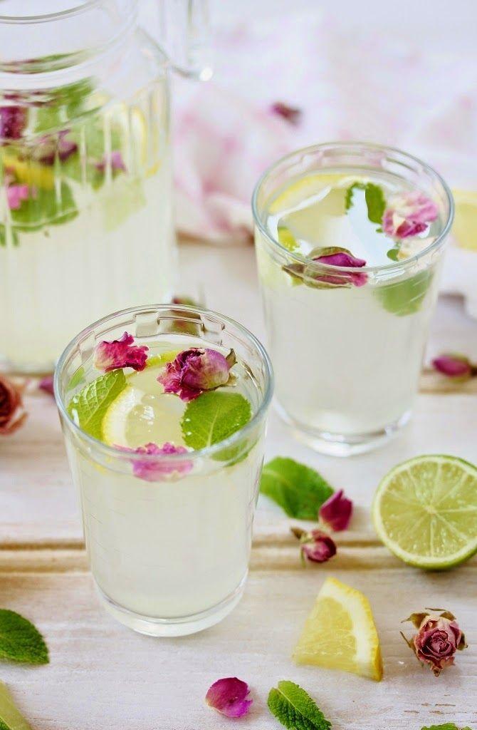 Rose Mint Lemonade   Beela Bakes