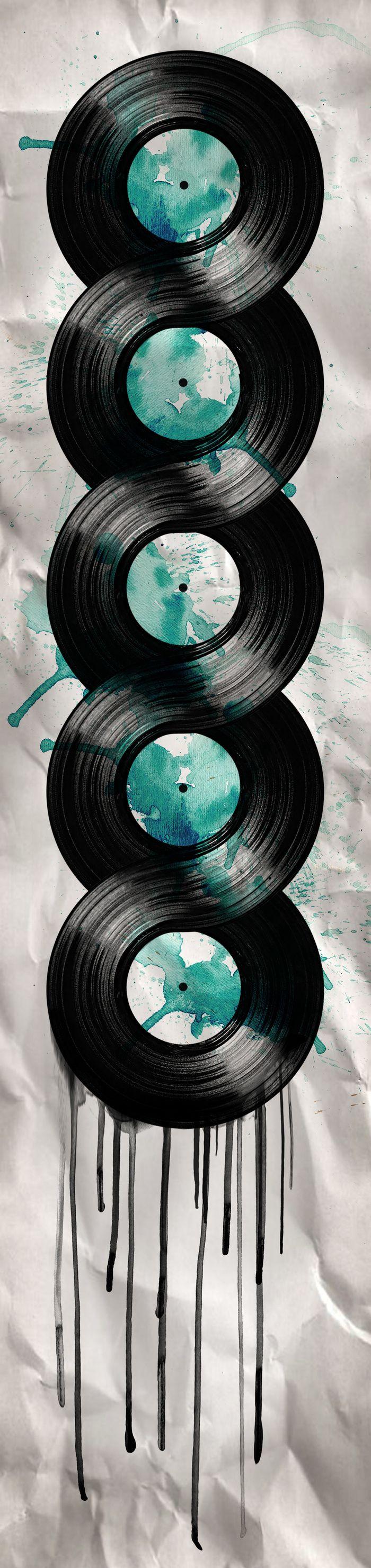 """""""infinite vinyl"""" Art Print by Vin Zzep on Society6."""