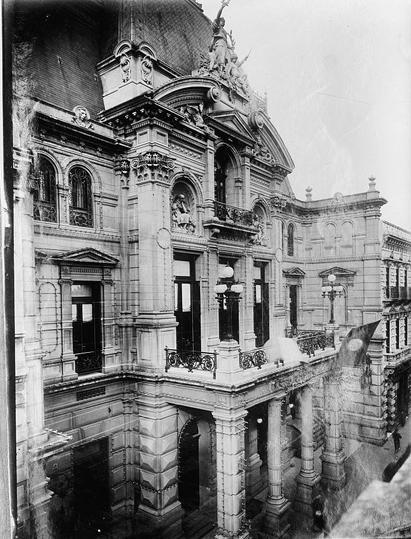 el palacio del Jockey Club VINTAGE PHOTO: Jockey Club Palace in Buenos Aires, Argentina.
