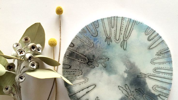 Lovely cloudy art tile and billybuttons...