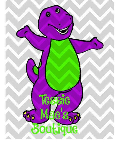 Barney Digital Design for Instant Download by TessieMaesDesigns