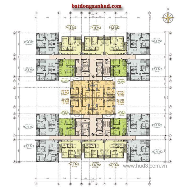 Chung cư HUD3 Nguyễn Đức Cảnh, Công trình hỗn hợp văn phòng dịch vụ thương mại và nhà ở cao tầng Địa chỉ: Số 60 Nguyễn Đức Cảnh, phường Tương Mai
