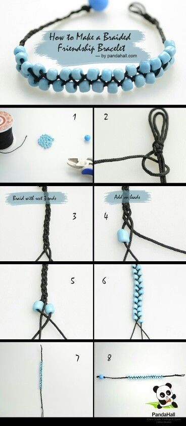 DIY: Braid and Bead this cute friendship bracelet. And not forget yourself... :-P