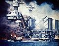 Dec 7 - 1941 – World War II: Attack on Pearl Harbor – The Imperial Japanese Navy attacks the United States Pacific Fleet and its defending Army Air Forces and Marine air forces at Pearl Harbor, Hawaii, causing a declaration of war upon Japan by the United States. Japan also invades Malaya, Thailand, Hong Kong, the Philippines, and the Dutch East Indies at the same time (December 8 in Asia).