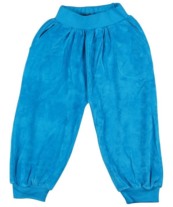 Baby Broek Velours Blauw