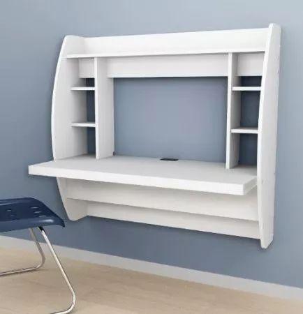 mesa minimalista flotante para computadora...