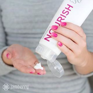 Jamberry Hand Care Cream Enriched with Biotin to Promote Nail Growth.
