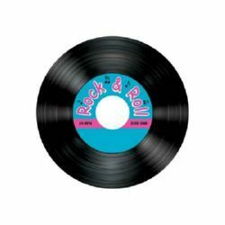36 -  Rock N Roll Record Coasters. Pack of 8 Coasters Record - Rock N Roll (9cm Diameter)