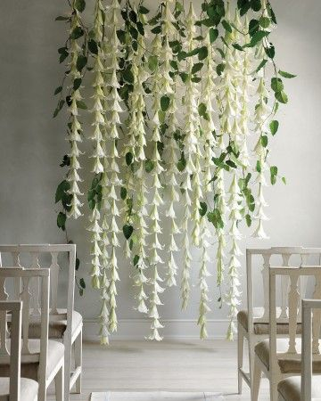 Flower Wall Wedding Backdrop | Martha Stewart Weddings