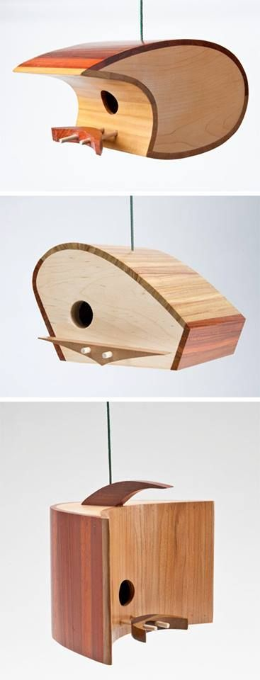 Show a little love to the bird-life in your garden this Valentine's weekend. We love these contemporary bird houses by Koolbird. How good would they look made with sistainable Kebony wood!