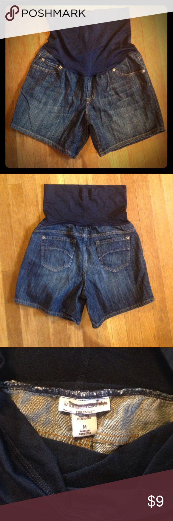 Denim Maternity Shorts NWOT Liz Lange Maternity denim shorts are NWOT. Smoke free home. liz lange maternity Shorts Jean Shorts