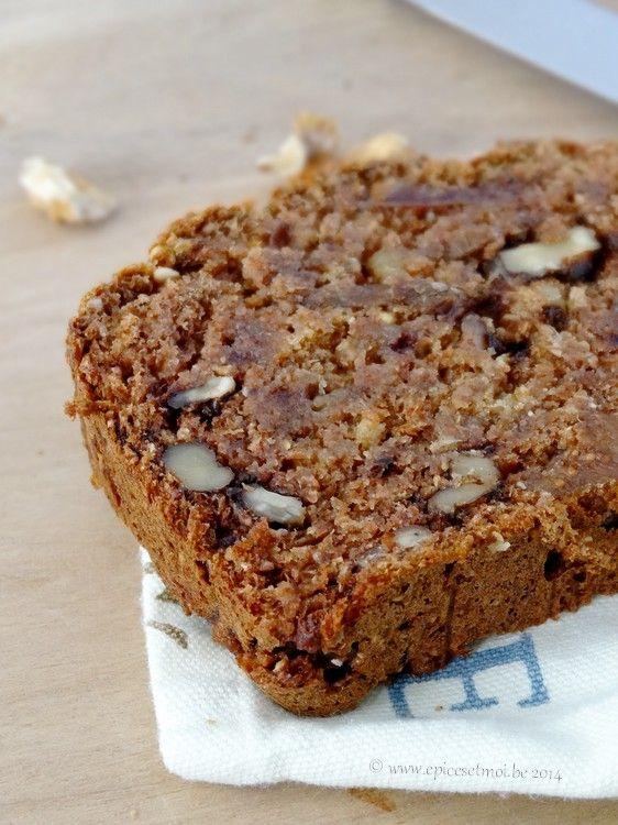 Pain de dattes au son de blé et aux noix … { Date, bran and walnut bread } Cette épingle a aussi sa place dans le tableau fitness