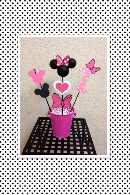 Minnie Mouse Birthday Decoration Centerpiece - Baby Shower on Etsy, $13.50