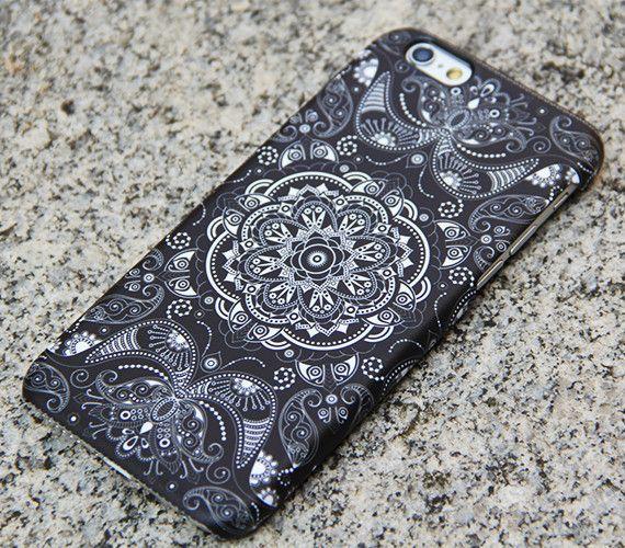 Vintage Black Floral iPhone 6s case iPhone 6 plus Folk iPhone 5S 5 iPhone 5C iPhone 4S/4 Case Samsung Galaxy S6 edge S6 S5 S4 S3 Case 040