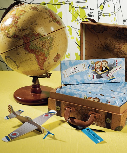 12 love is in air wedding airplane gliders travel favor