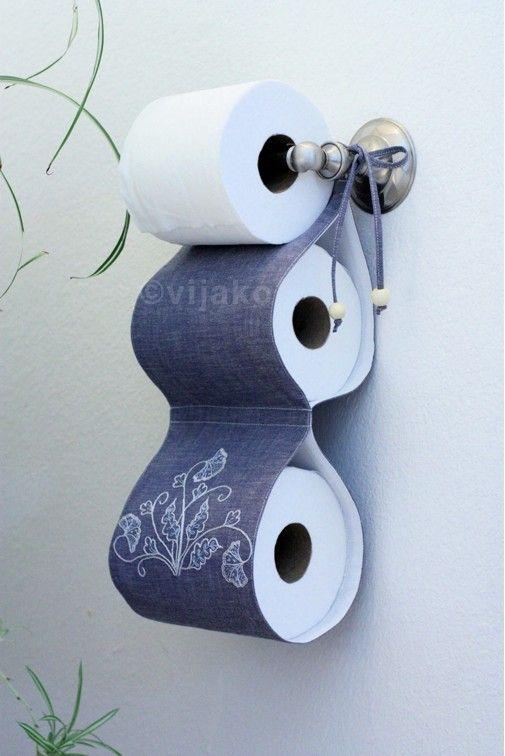 2-rollo de papel higiénico titular bordado a mano por vijako