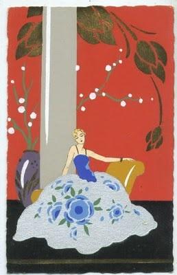 Meschini pochoir postcard: Deco Pochoir, Italian Art, The Artists, Artists Meschini, Pochoir Postcards, Deco Illustrations, Deco Images, Artists John, Art Deco