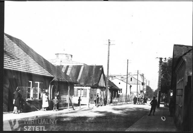 View of the ghetto in Praszka