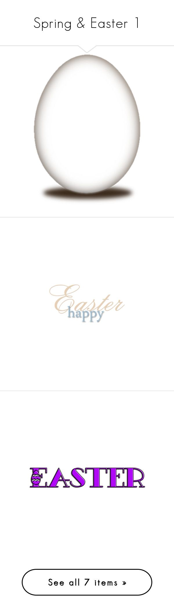 """""""Spring & Easter 1"""" by marianne-spiessens ❤ liked on Polyvore featuring easter, egg, frames, backgrounds, effects, borders, picture frame, home, home decor and text"""