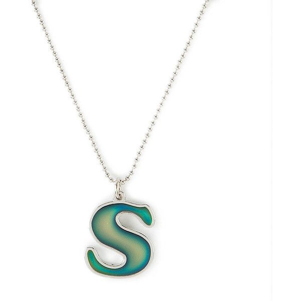 Mood Initial S Pendant Necklace ($7.50) ❤ liked on Polyvore featuring jewelry, necklaces, letter pendants, letter necklace, silver pendant necklace, silver initial necklace and silver jewelry