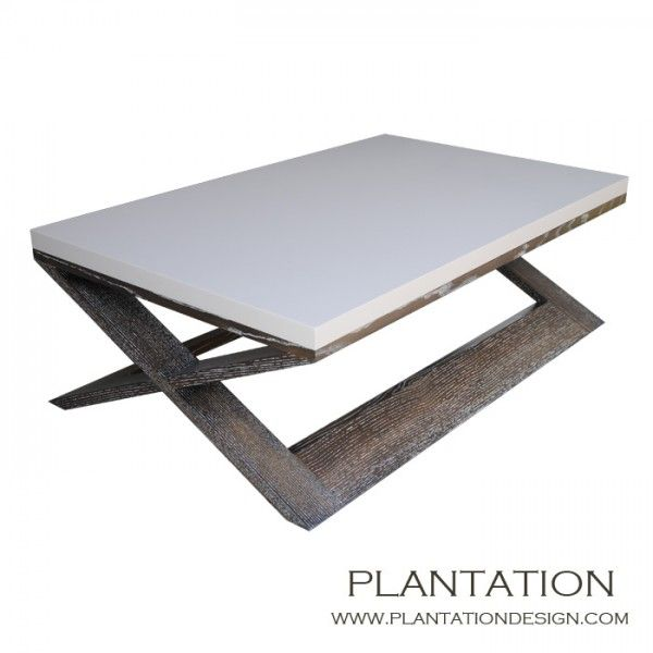 Xavier Coffee Table | Rectangular 50 x 30 x 16H options available on top and finishes