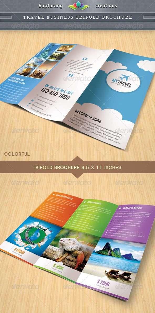 Travel Business Trifold Brochure.