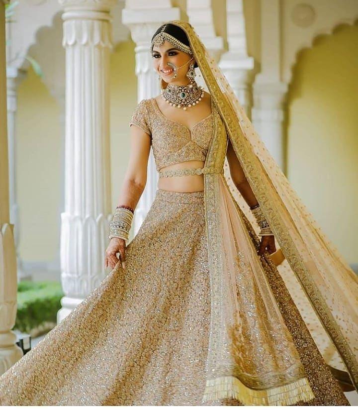 Beautiful Lehenga With Osm Bride Lehenga Lovers Point Lehenga Lehengacho Golden Bridal Lehenga Indian Bridal Dress Indian Bridal Outfits,Womens Wedding Dresses Casual