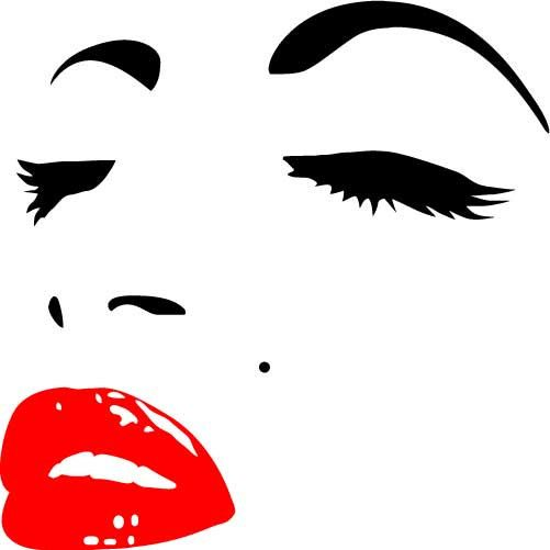 Marilyn Monroe Face V.2 MEDIUM Vinyl Wall Decal by ... Marilyn Monroe Face Stencil