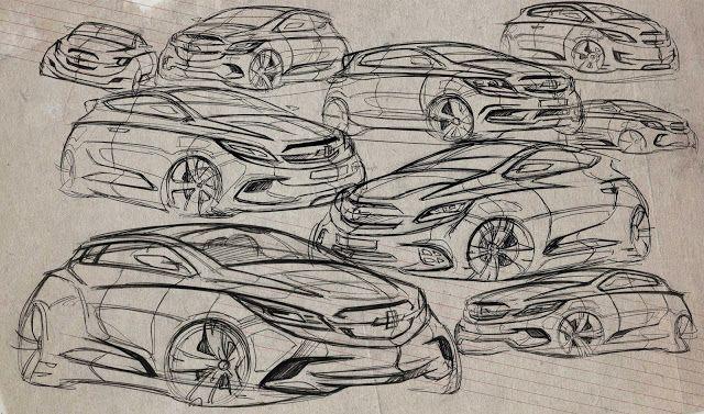 Juhan Kim Design: Chevy hatchback sketch
